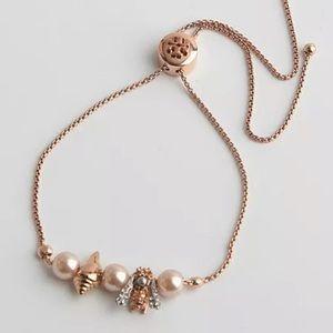 Tory Burch Rose Gold Slider Bracelet